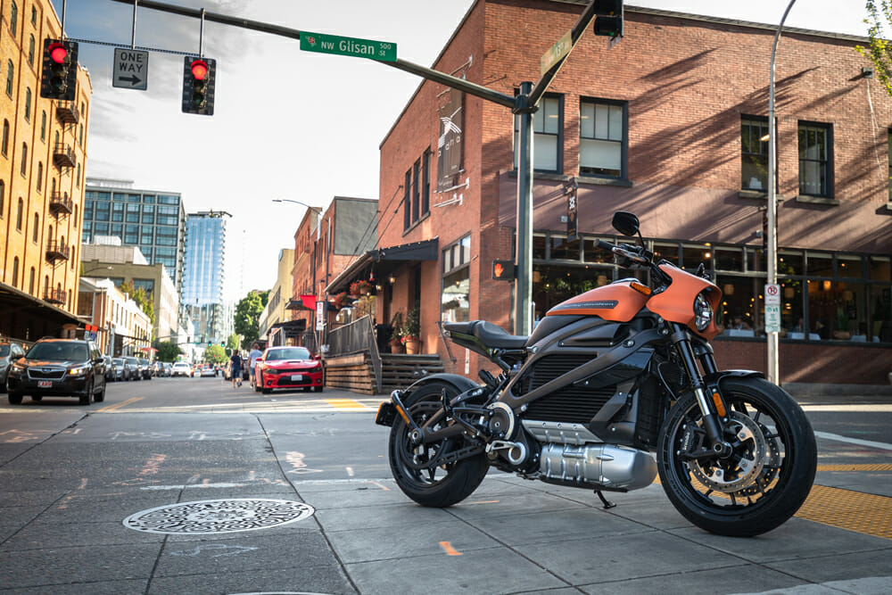 The 2020 Harley-Davidson LiveWire's Orange Fuse color scheme looks awesome .