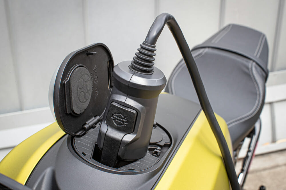 DC fast charging should have the 2020 Harley-Davidson LiveWire topped from fully empty to 100 percent in an hour.