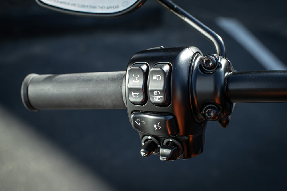 Cruise control is standard on the 2020 Harley-Davidson LiveWire.