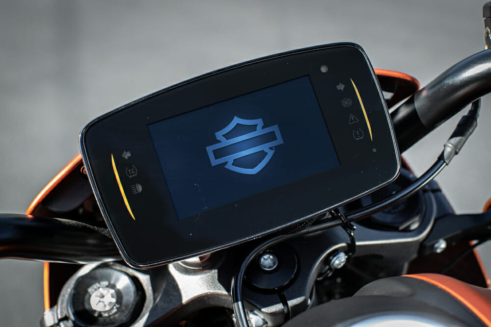 The dash on the 2020 Harley-Davidson LiveWire.