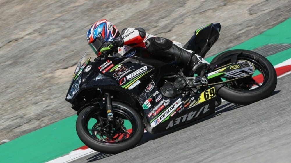 Dallas Daniels, shown here aboard the Quarterley Racing/On Track Development Kawasaki at the MotoAmerica Championship of Monterey, will race a Celtic HSBK Racing Yamaha in the Liqui Moly Junior Cup class at the MotoAmerica Championship of Pittsburgh. Photo by Brian J. Nelson.