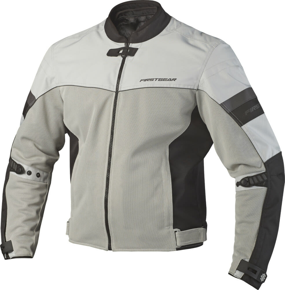 Built for the hottest of riding days, FirstGear's Rush Air Mesh jacket has a full poly mesh construction to keep the air flowing.