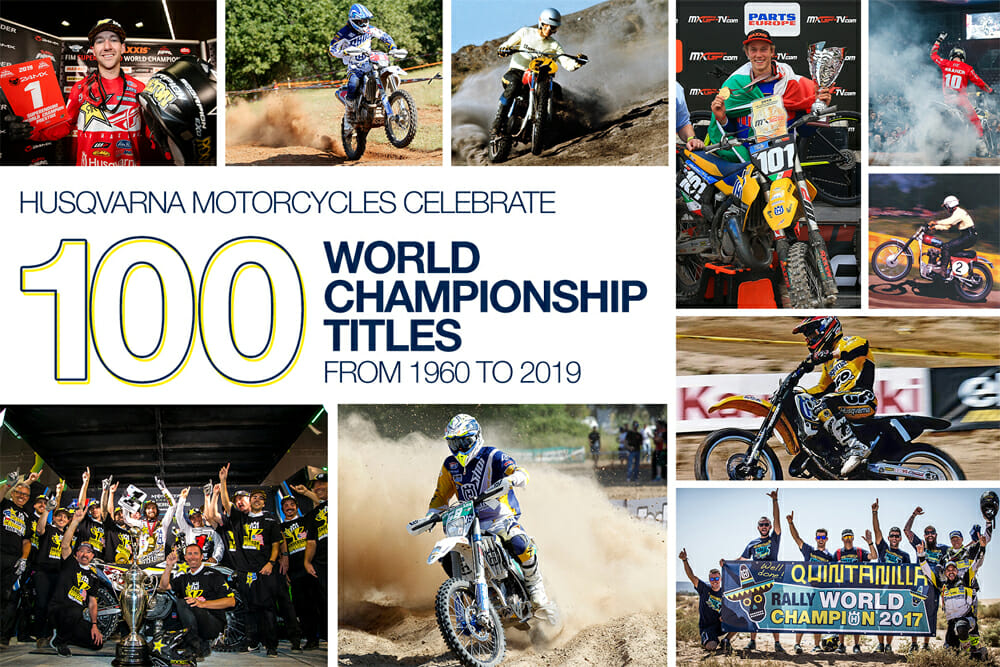Husqvarna Motorcycles Celebrates 100 World Championship Titles