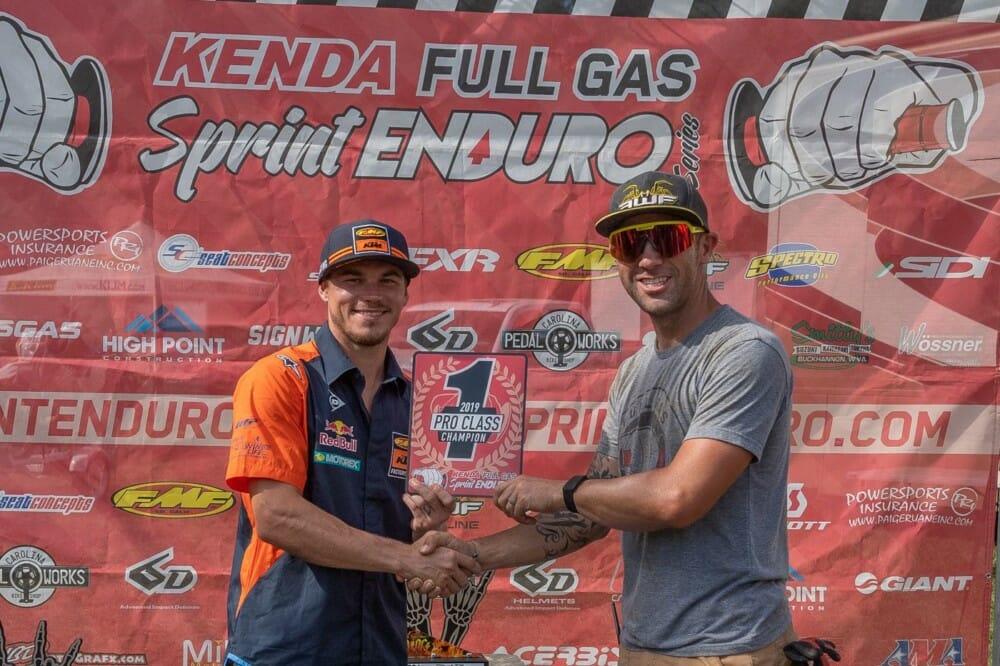 Kailub Russell Clinches 2019 Full Gas Spring Enduro Championship