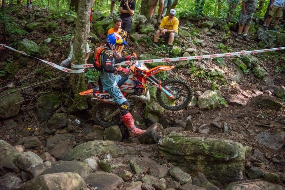 Manny Lettenbichler finished second at his first TKO in 2018. He just won the 2019 Red Bull Romaniacs to go along with a win at the Machette Hard Enduro in the Dominican Republic and a runner up finish at the 2019 Erzberg Rodeo.