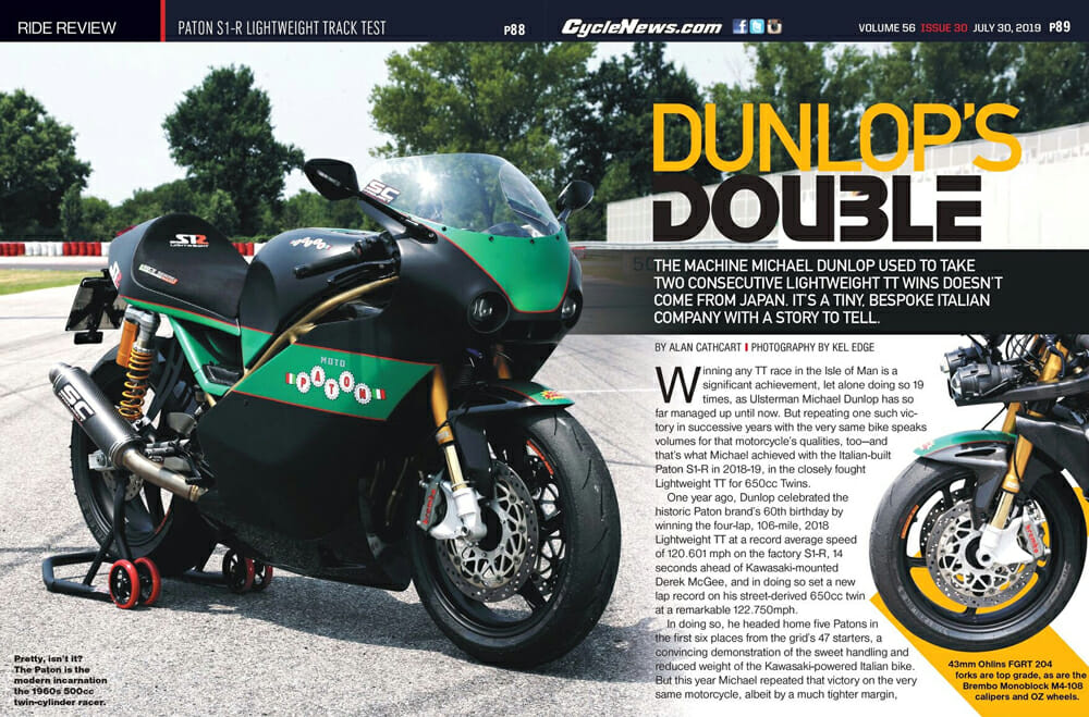 Paton S1-R Lightweight Track Test: The machine Michael Dunlop used to take two consecutive Lightweight TT wins doesn't come from Japan. It comes from a tiny, bespoke Italian company with a story to tell.