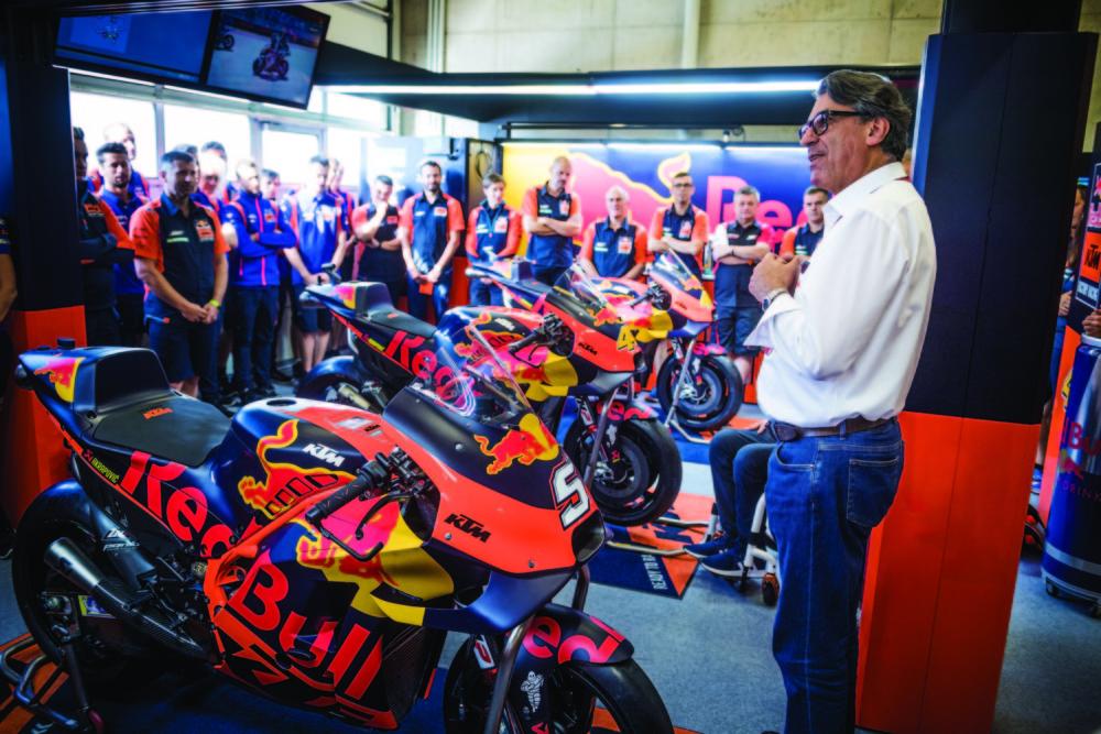 Stefan Pierer 2019 MotoGP Austria Photo Courtesy of KTM Images/Philip Platzer