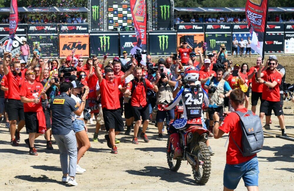 Pirelli Celebrates 2019 MXGP Motocross World Title with Tim Gajser