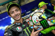 Valentino Rossi reveals the Menù Misano version of the AGV Pista GP R helmet