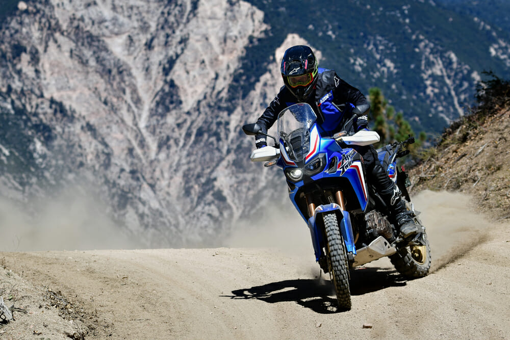 The Honda Africa Twin is a big bike, no doubt, but you can get away with some improbable riding on it.