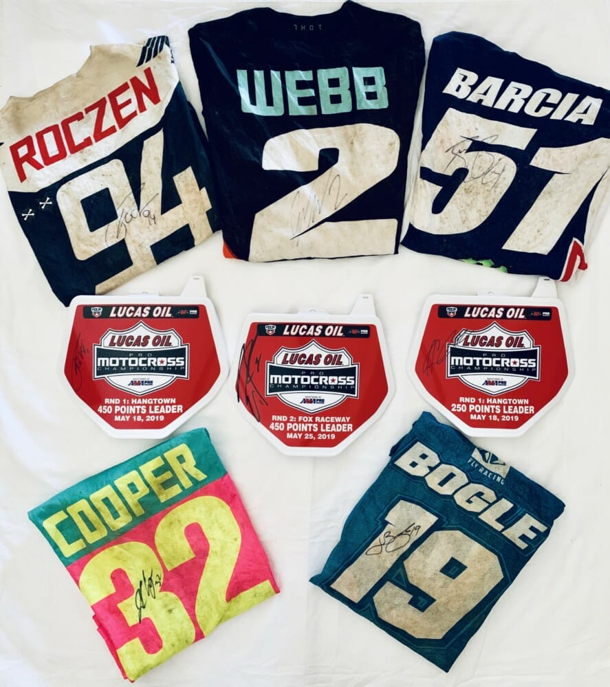 2019 Road 2 Recovery MX Memorabilia Mania eBay Auction