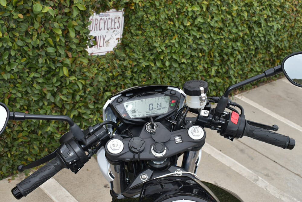 A view of the dash on the 2019 Suzuki SV650X