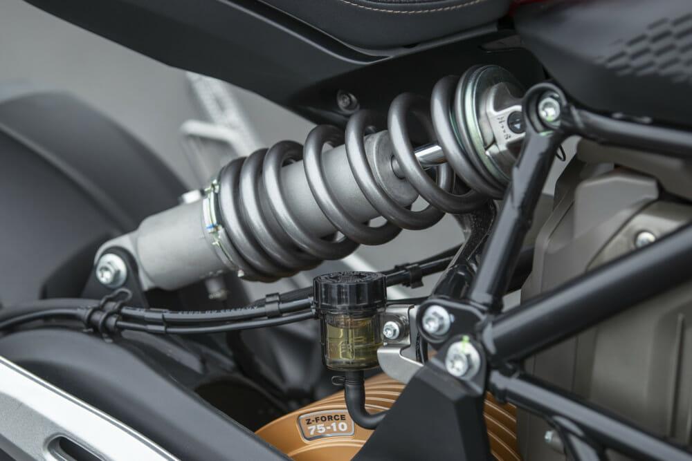 The 2019 Zero SR/F has fully adjustable suspension.