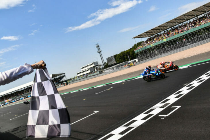 How did Alex Rins beat the master, Marc Marquez, at Silverstone? Photo: Gold & Goose