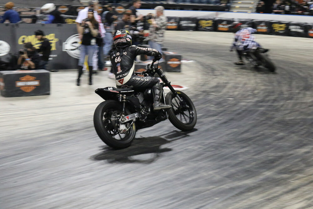 Sideways Saturday is a new indoor flat track race that will be held on the show floor of AIMExpo presented by Nationwide.