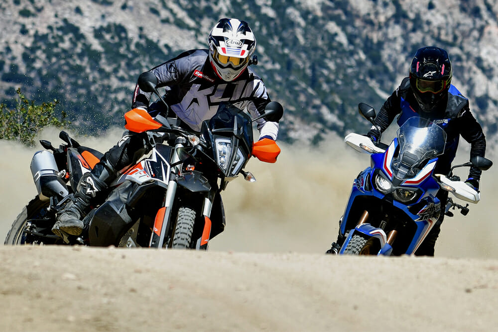 Honda Africa Twin Vs Ktm 790 Adventure R Comparison Cycle News