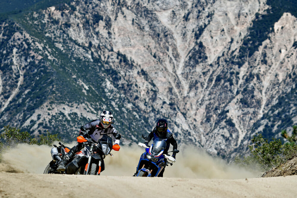 Honda Africa Twin vs. KTM 790 Adventure R...