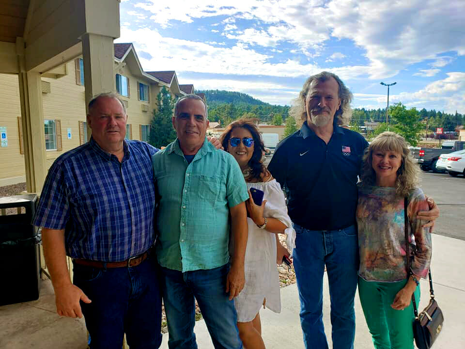 (L-R) Kevin Lavoie, Bill and Lucy Berroth, and Jeff Slavens and his wife, Sue, enjoyed their time hanging out in Colorado and talking dirt bikes.