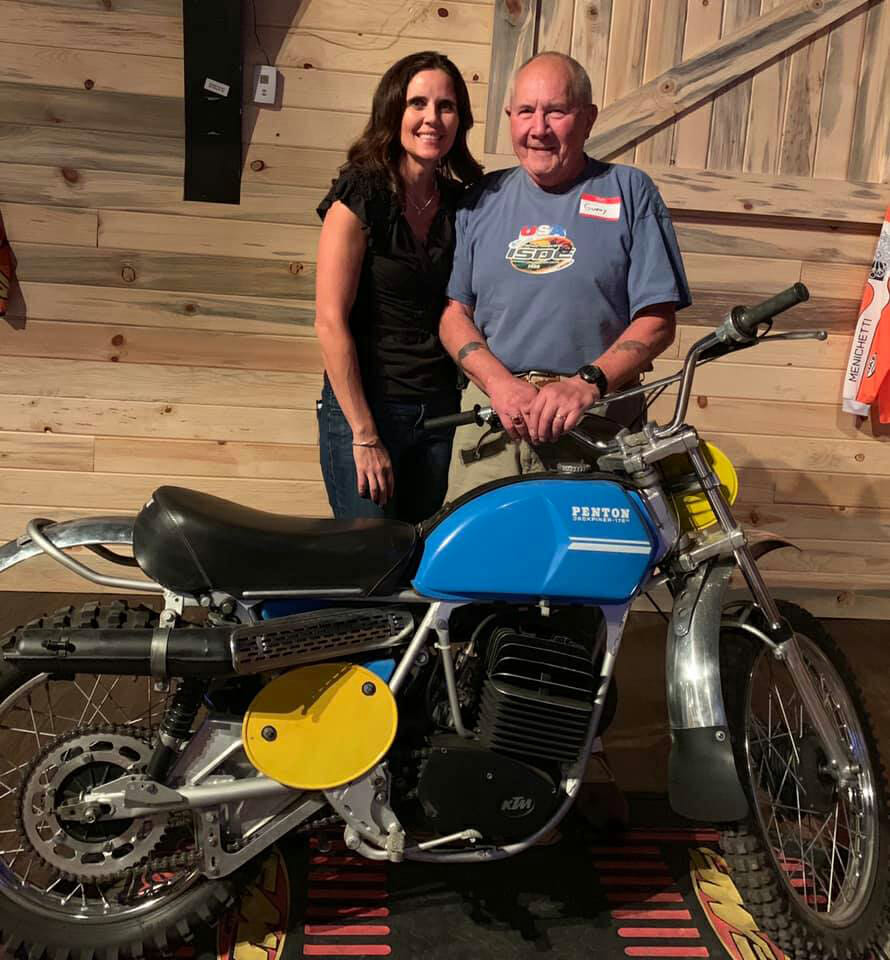 ISDE racer Nicole Bradford and many-times ISDE Team Captain Gunny Claypoole were a big part in the history of American ISDE.
