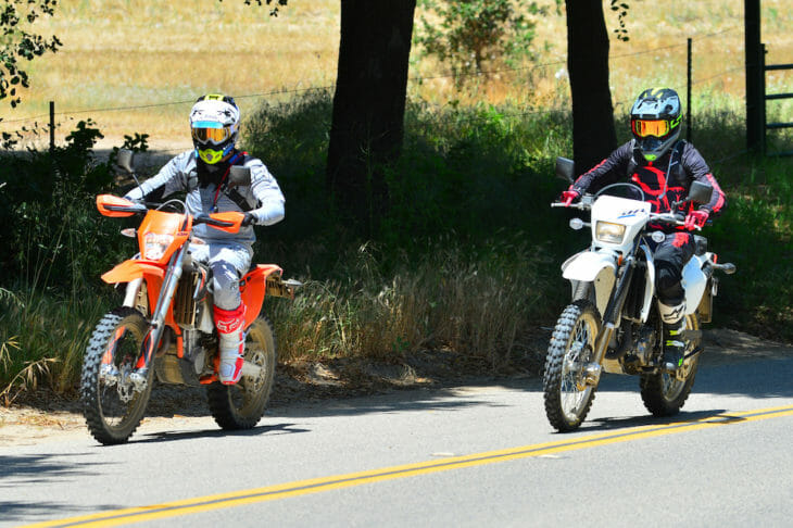 Suzuki DR-Z400S And KTM 500 EXC Comparison