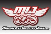 Motorcycle Industry Jobs logo with tagline