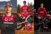 Team Honda HRC 2020 team of Ken Roczen Justin Brayton and Chase Sexton