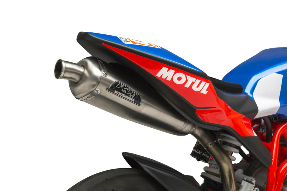 Yoshimura has released its RS-9T Titanium RS (Race Series) exhaust system for the Ohvale GP-0 190.