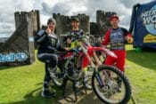 World-Renowned Freestyle Motocross Athletes Josh Sheehan, Jackson Strong and Luc Ackermann Land First Ever Three-Rider Double Backflip Train Outside Historic Caerphilly Castle