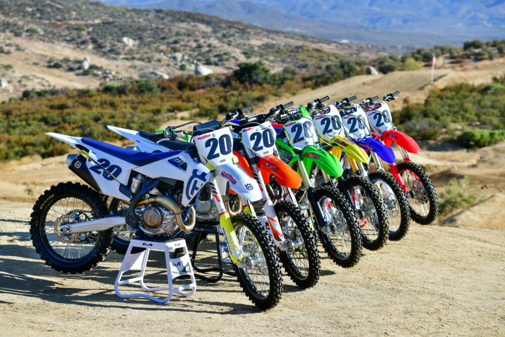 2020 450 Motocross Shootout | We brought the 2020 class of elite 450cc motocrossers into focus to determine the best of the bunch.