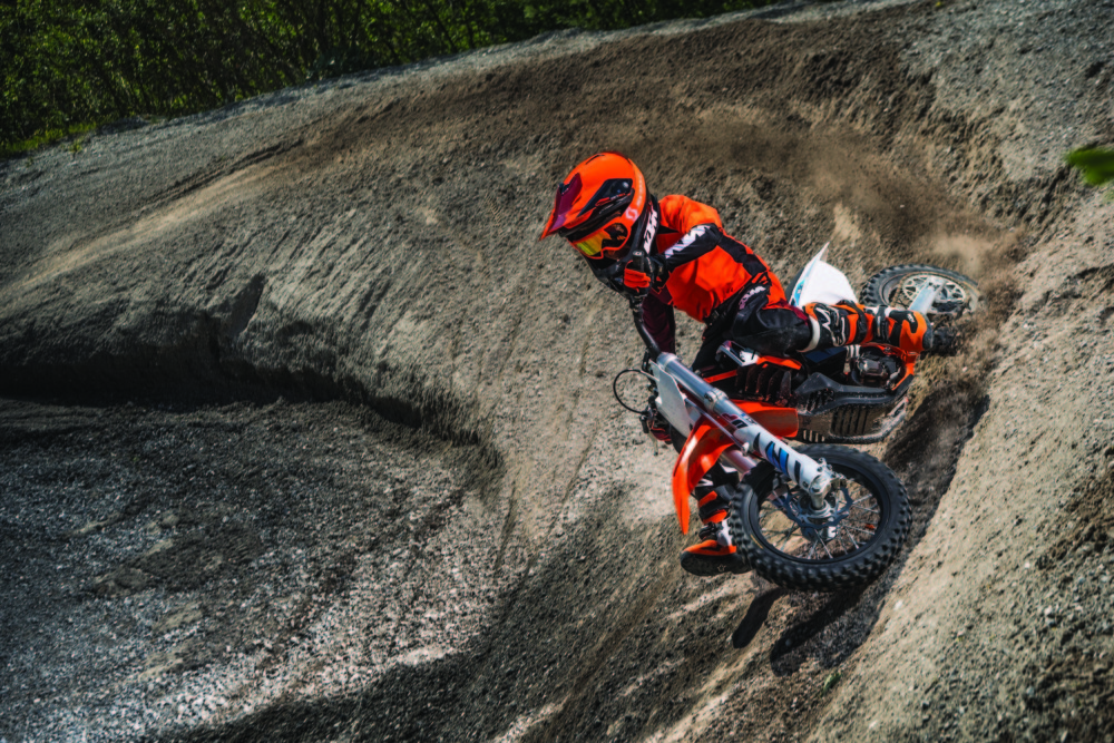 The KTM SX-E 5 was showcased for the first time in North America at Red Bull Straight Rhythm in Pomona, California.
