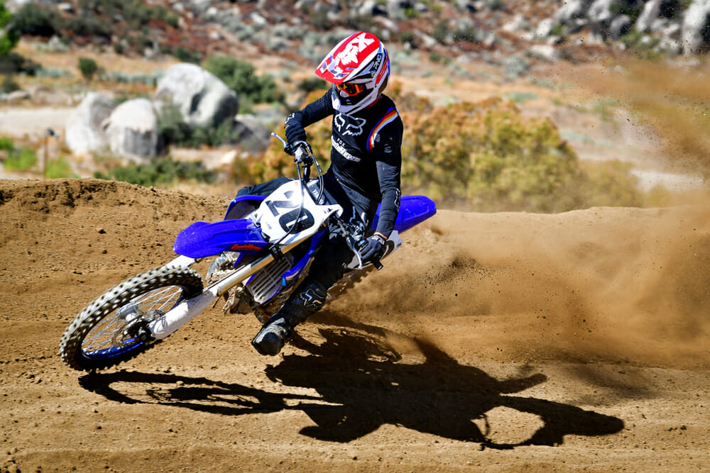The 2020 Yamaha YZ450F has come a long way for the better when it comes to turning.