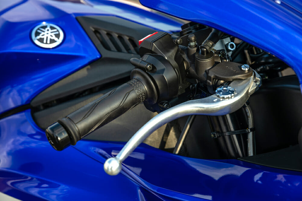 The new cable-less throttle is actuated by magnets and is much lighter to twist.