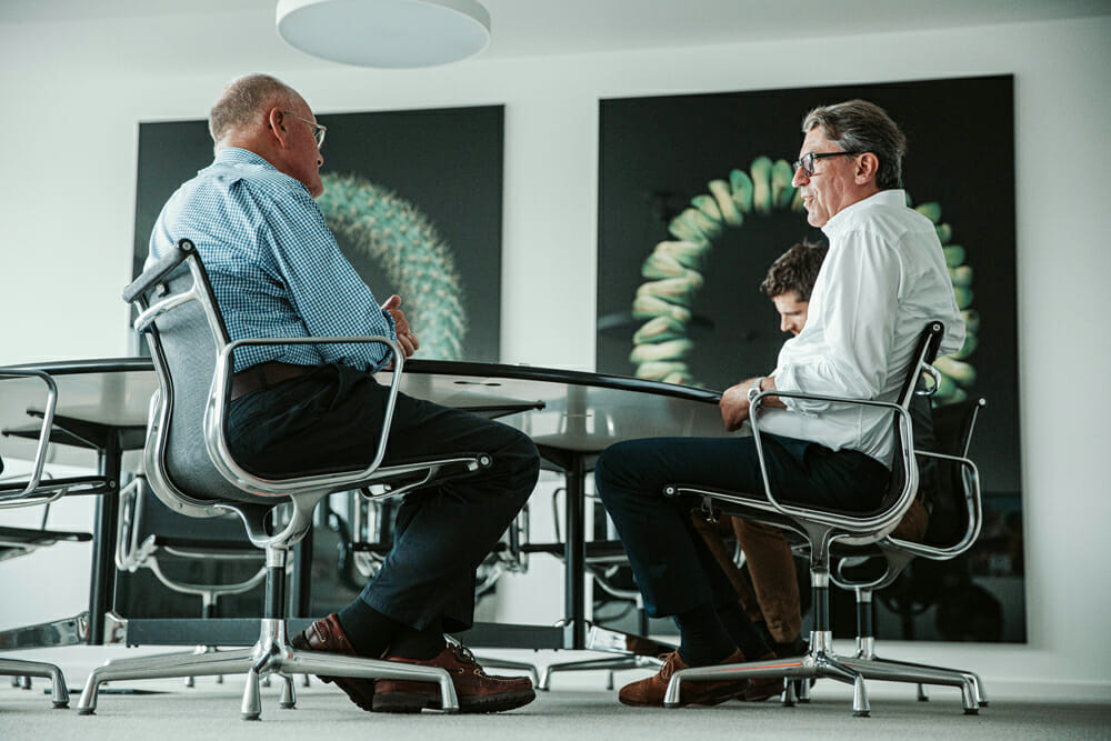 Alan Cathcart and KTM president/CEO Stefan Pierer.