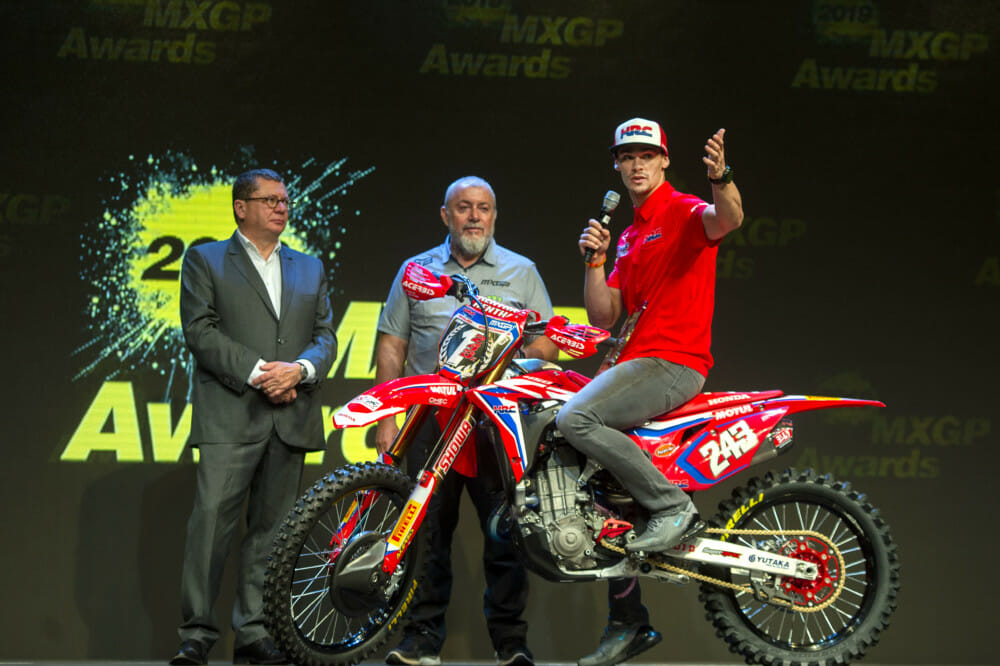 Team HRC at 2019 MXGP Awards Ceremony