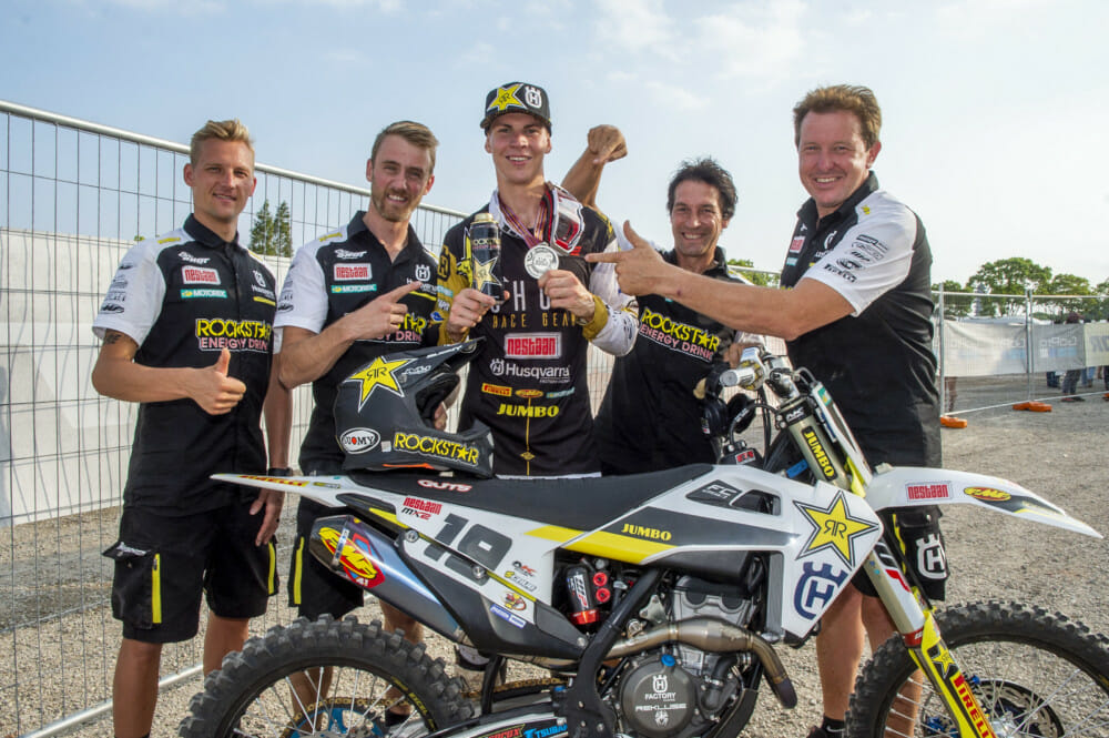 Husqvarna Motorcycles wish to formally thank Jacky Martens and the JM Racing team for their many years of service as Husqvarna Motorcycles' officially supported MX2 representatives in the FIM Motocross World Championship.