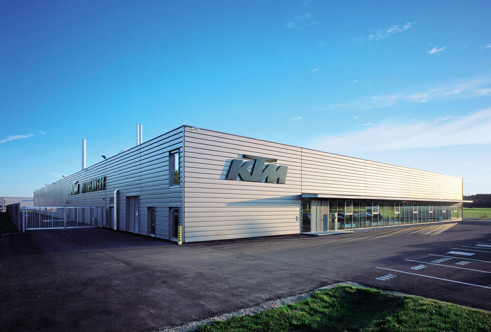 KTM's engine factory in Munderfing, Austria.