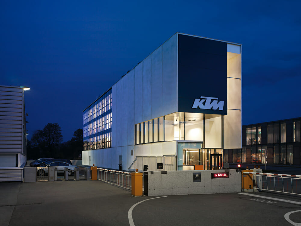 KTM's headquarters in Mattighofen.