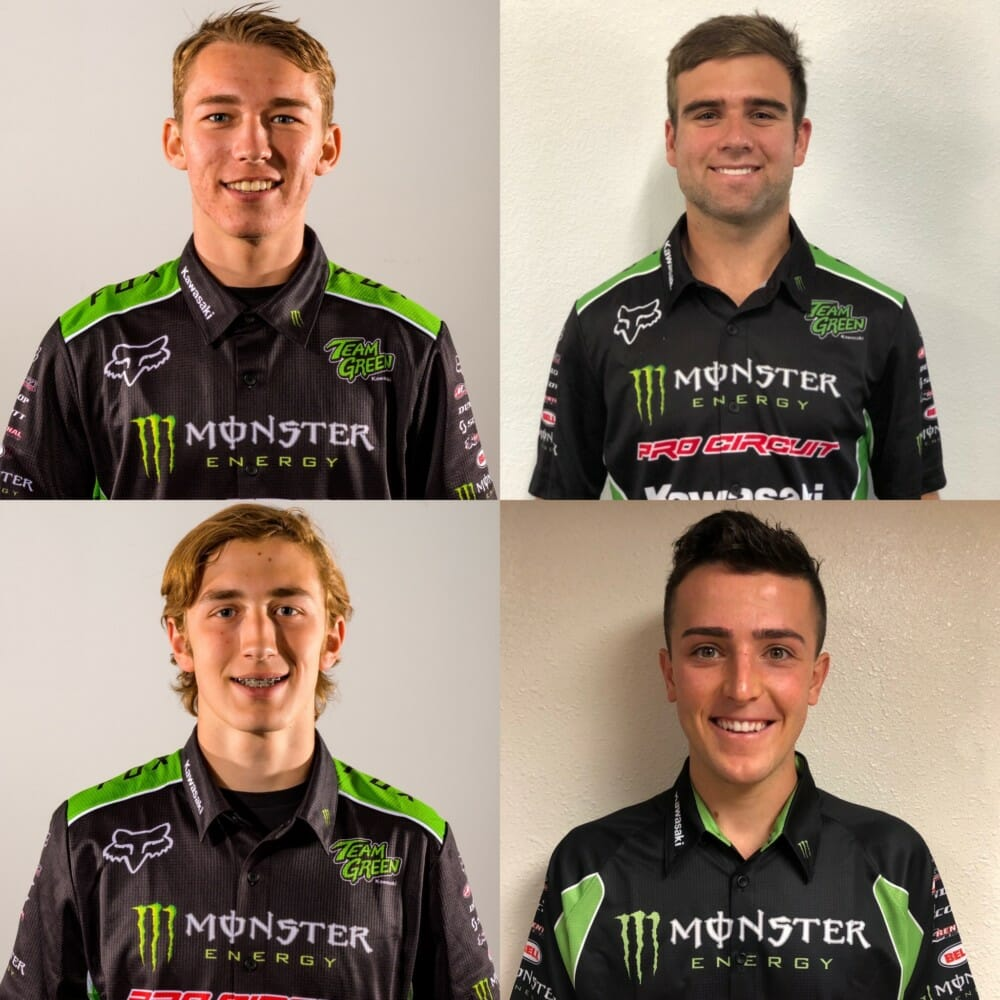 Monster Energy/Pro Circuit/Kawasaki Race Team Announces 2020 Roster for SX
