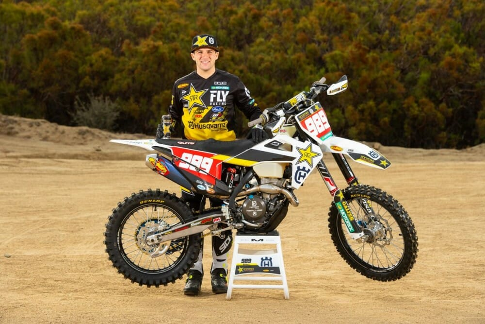 Rockstar Energy Husqvarna Factory Racing Team's Thad DuVall suffered a practice crash on Tuesday, resulting in a season-ending knee injury.