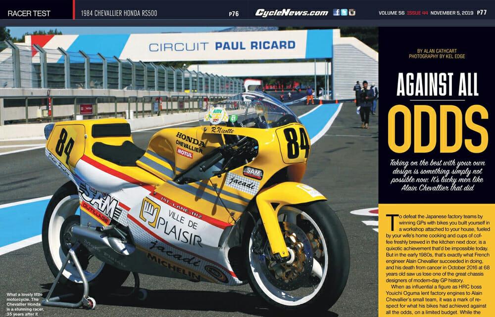 1984 Chevallier Honda RS500 Racer Test
