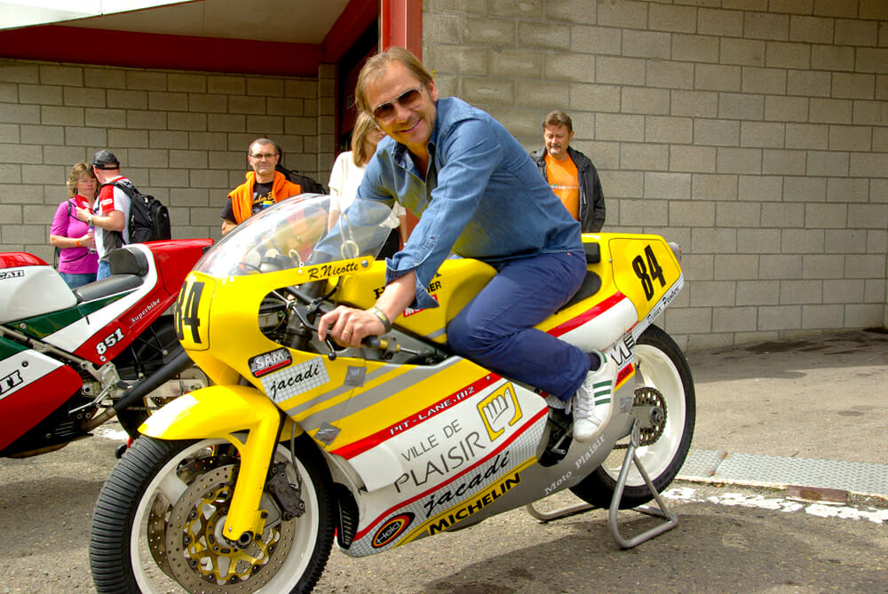 1984 Chevallier Honda RS500 with Didier de Radigues