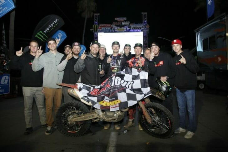2019 Baja 1000 Motorcycle Results SLR Honda Team Podium