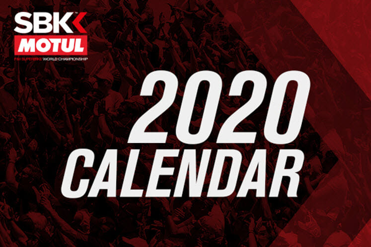 2020 WorldSBK Calendar Announced