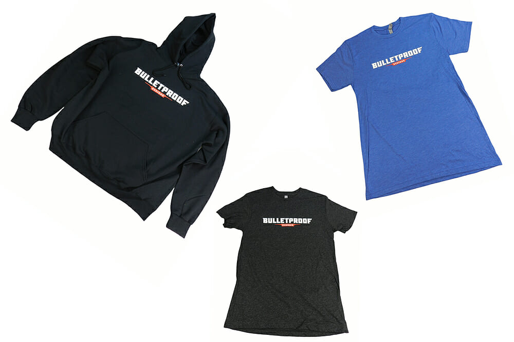 Bullet Proof Designs is gearing up for the holiday season with its signature apparel line that includes hoodies and tees.