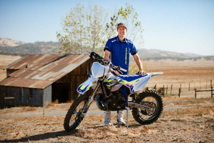 Cody Webb Joins FactoryONE Sherco team for 2020 Webb with Bike