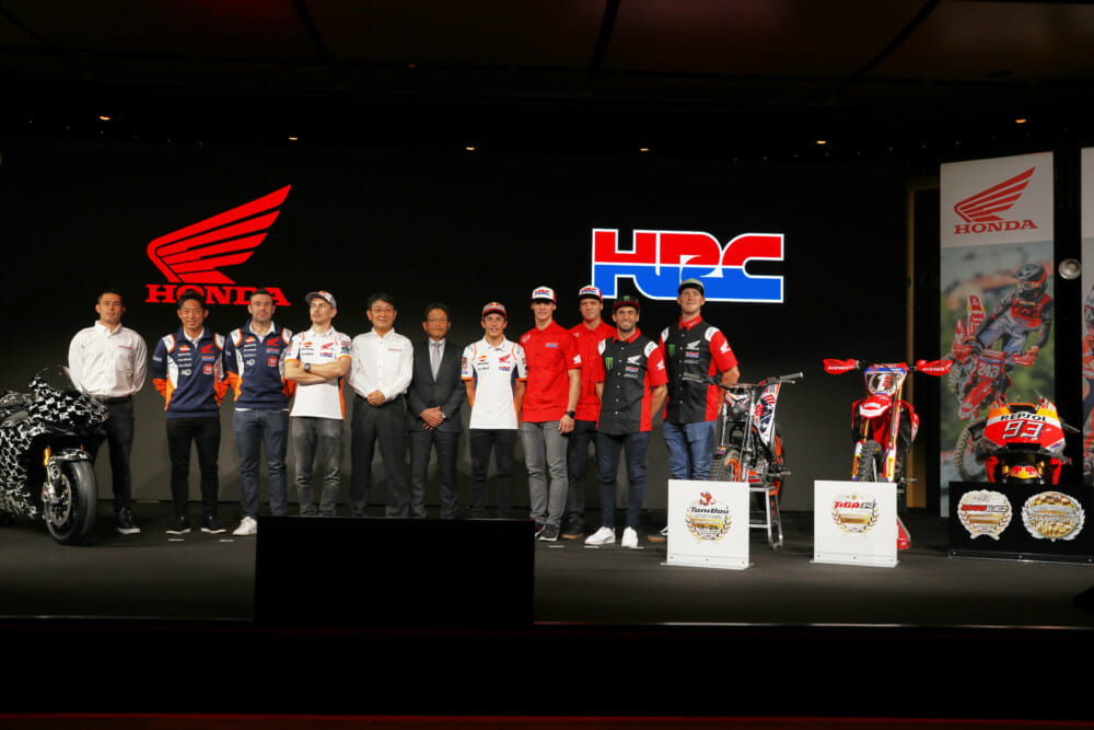 Team HRC MXGP riders join HRC family at EICMA for factory-racing announcement