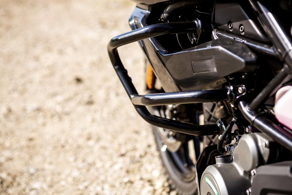 The KTM 390 Advenure has crash bars