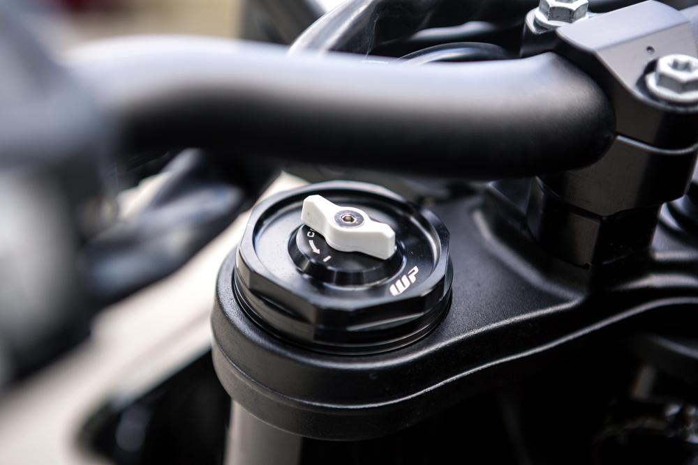 KTM 390 Adventure Prototype suspension adjustable