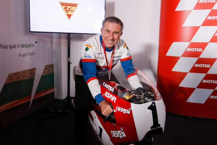 "Four-time World Champion Jorge Martínez ""Aspar"" joins a select group of riders in the history of Grand Prix racing, including the likes of Ángel Nieto and Giacomo Agostini, as a MotoGP Legend."