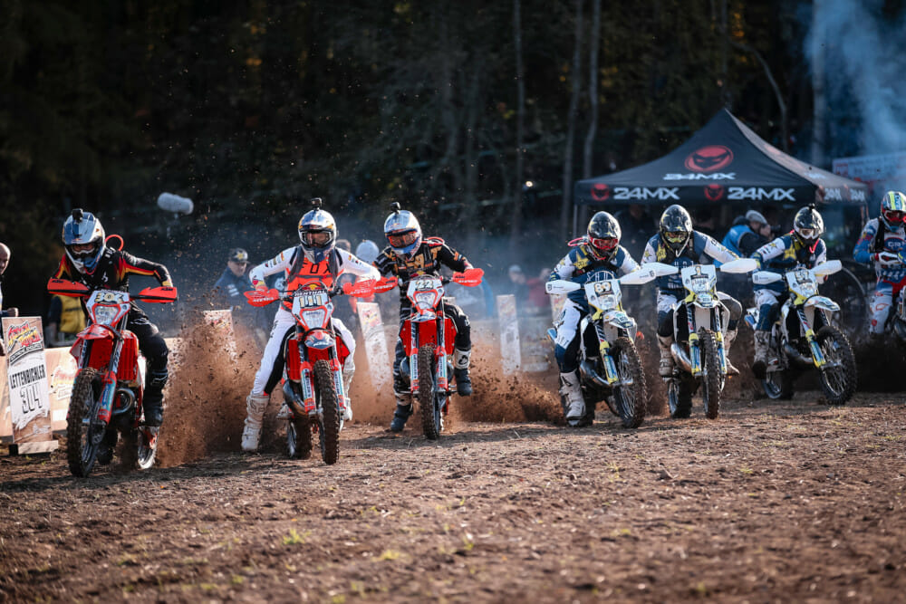 Riders blast off the start line for the final time in 2019 - © Future7Media